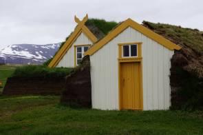Traditionelle Torfhäuser in Glaumbær